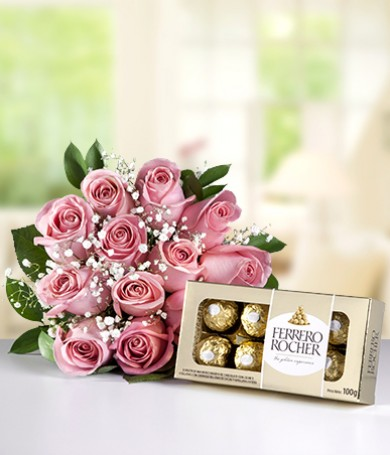 Roses & Chocolates for Mom