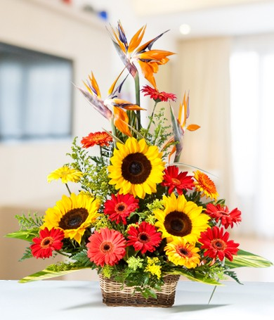 Sunburst Tower Basket